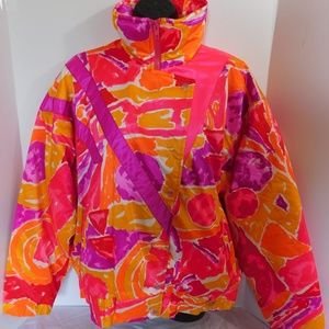 Vintage 80's Sport Obermeyer Colorful Ski Jacket